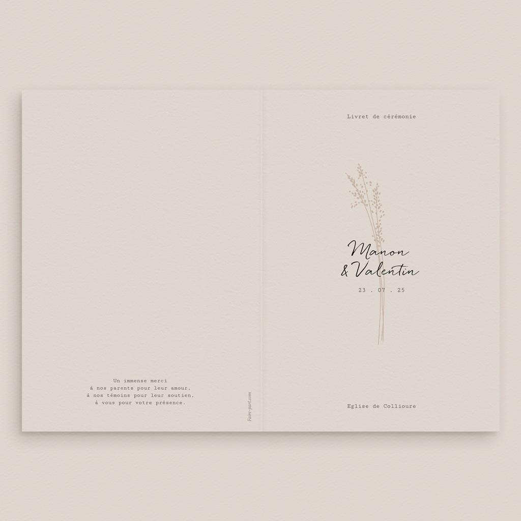 Livret de messe mariage Globe de fleurs bohèmes, Couverture gratuit