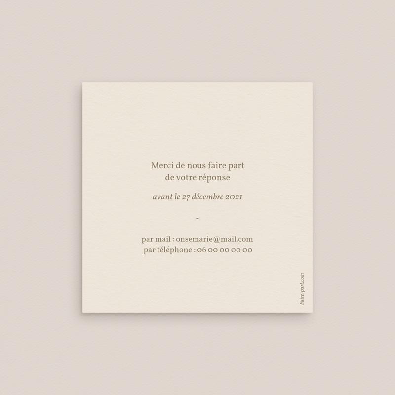 Carton réponse mariage Fleurs Colorées & Kraft, Rsvp pas cher