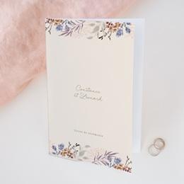 Livret de messe mariage Fleurs Colorées & Kraft, Couverture