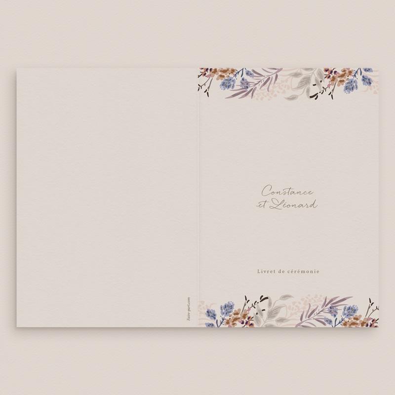 Livret de messe mariage Fleurs Colorées & Kraft, Couverture gratuit