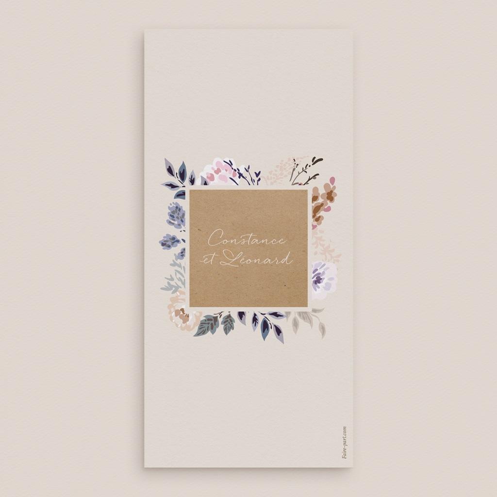 Menu mariage Fleurs Colorées & Kraft, Repas pas cher