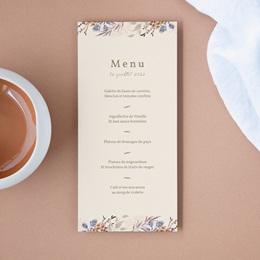 Menu mariage Fleurs Colorées & Kraft, Repas