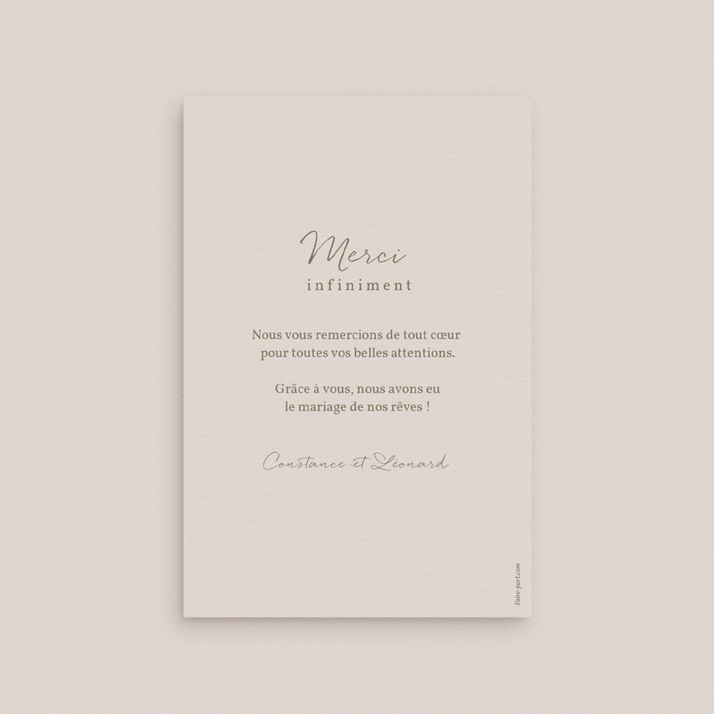 Carte de remerciement mariage Fleurs Colorées & Kraft, portrait pas cher