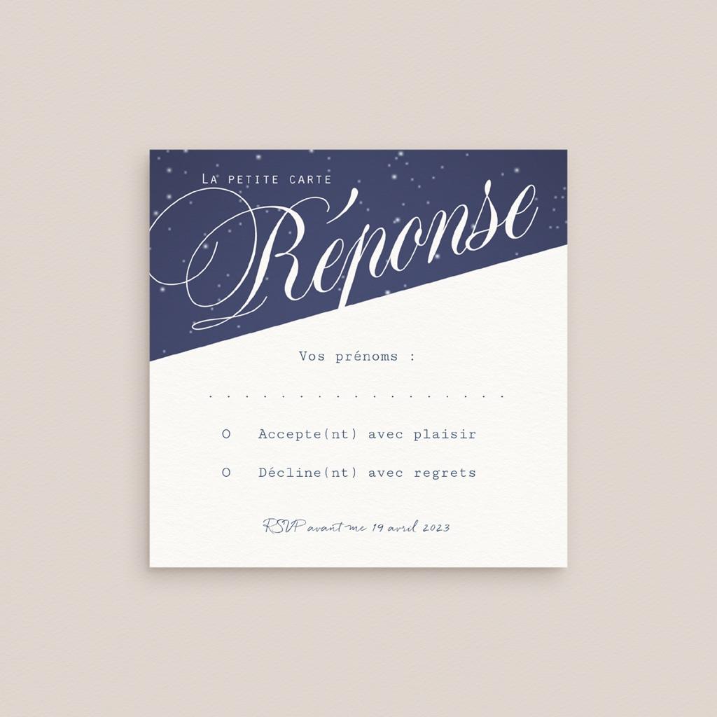 Carton réponse mariage Nuit étoilée, 10 x 10 gratuit