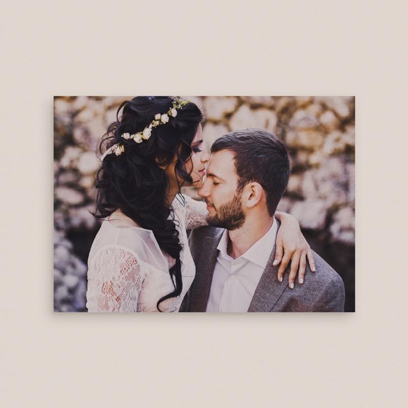 Carte de remerciement mariage Voiture des Mariés - Rectangle simple pas cher