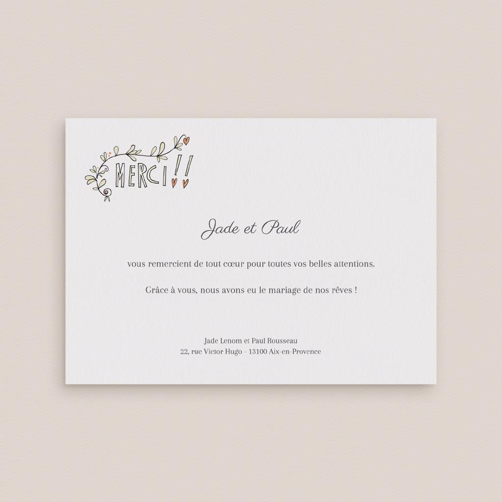 Carte de remerciement mariage Voiture des Mariés - Rectangle simple gratuit