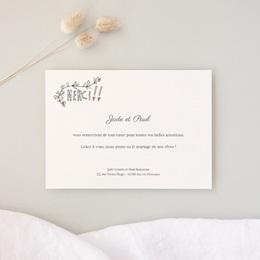 Carte de remerciement mariage Voiture des Mariés - Rectangle simple