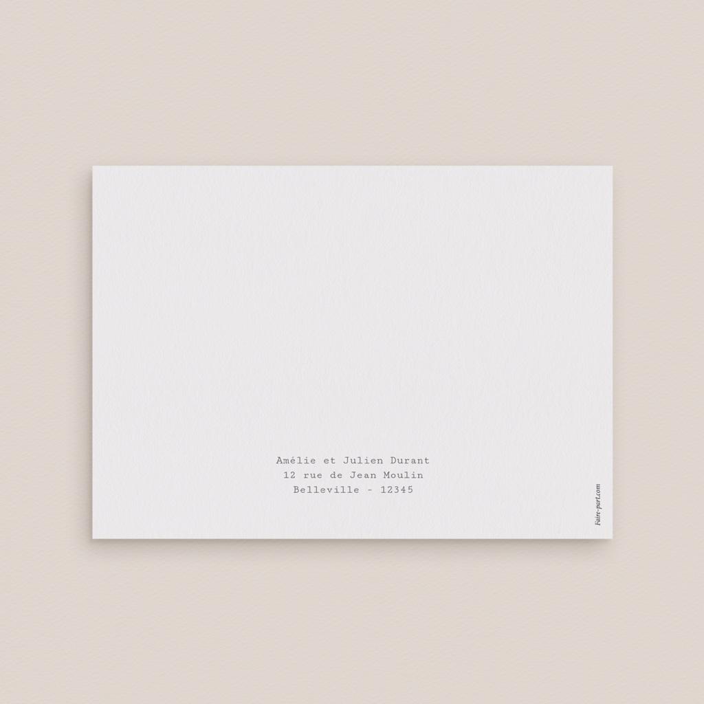 Carte d'invitation mariage Boho - Carte invitation rectangle pas cher