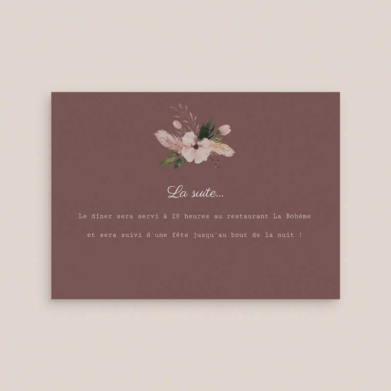 Carte d'invitation mariage Boho - Carte invitation rectangle gratuit