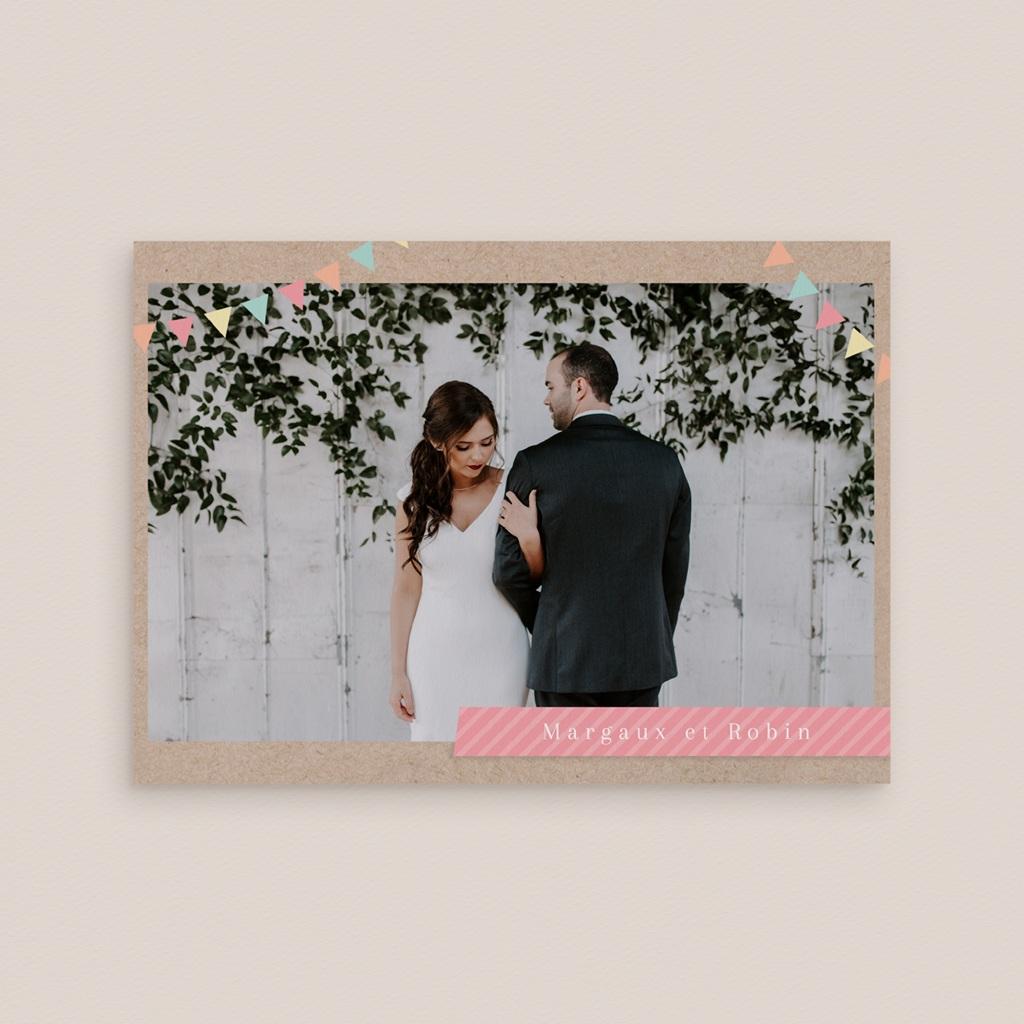 Faire-part de mariage Pretty love story, Panoramique double gratuit