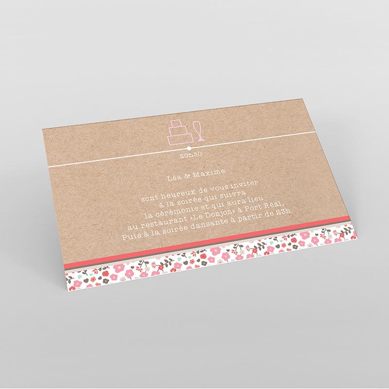 Carte d'invitation mariage Liberty