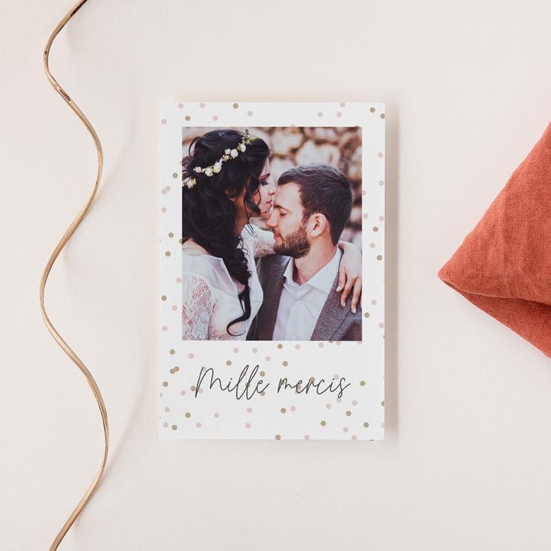 Carte de remerciement mariage Pretty Confettis