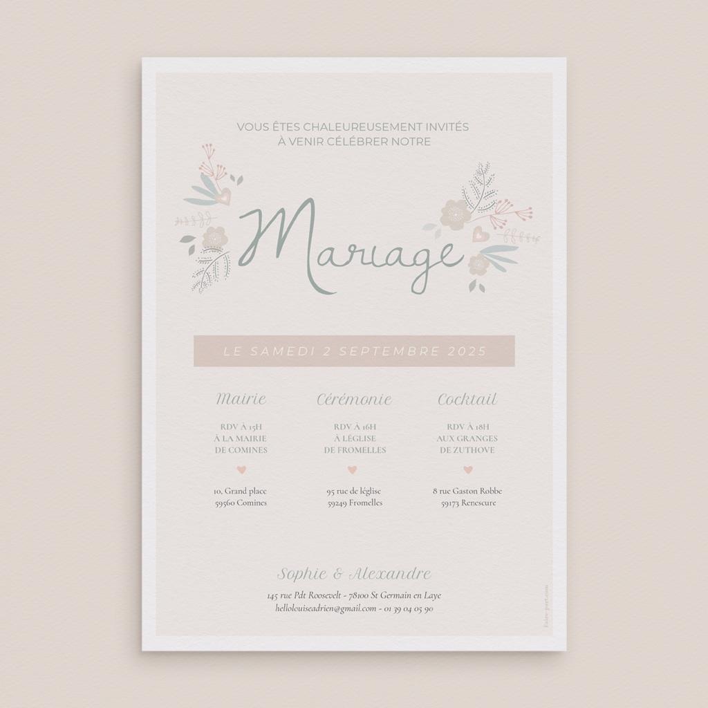 Faire-part de mariage Sweet Wedding pas cher