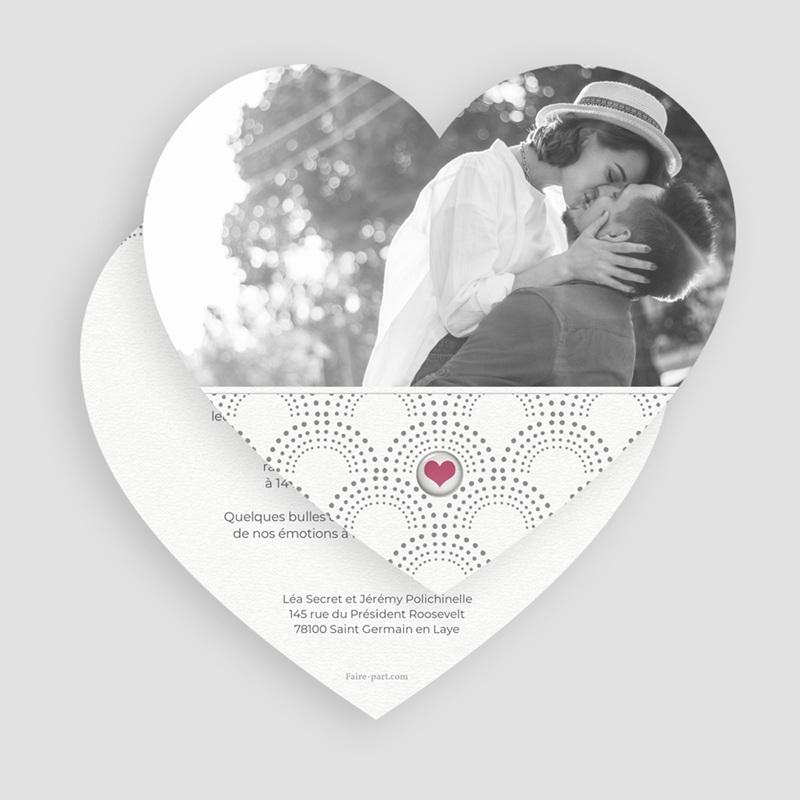 Faire-part de mariage Complicité gratuit