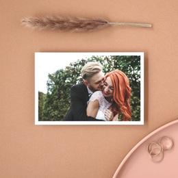 Carte de remerciement mariage Letter Press gris - Rectangle simple