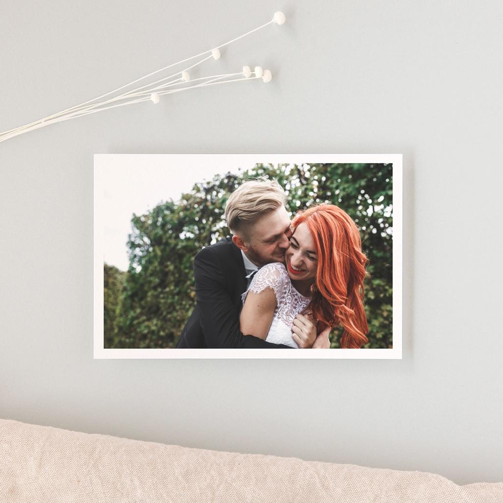Carte de remerciement mariage Letter Press gris - Rectangle simple gratuit