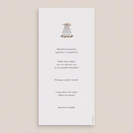 Menu mariage Voiture des Mariés - 10 x 21 cm pas cher