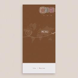 Menu mariage Voyage chocolat - Menu simple gratuit