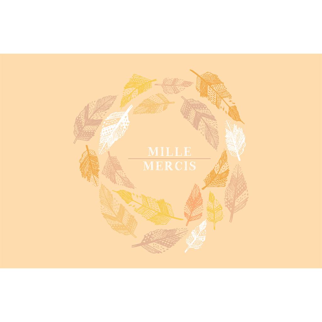 Carte de remerciement mariage Vent d'automne  pas cher
