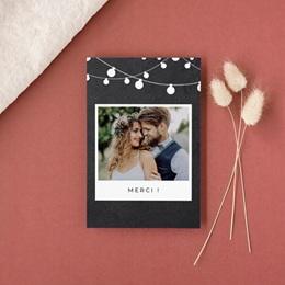 Carte de remerciement mariage Guinguette Ardoise - Rectangle simple vertical gratuit