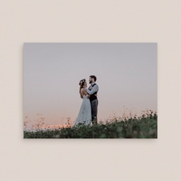 Carte de remerciement mariage Un jour d'amour bleu argent - Rectangle simple gratuit