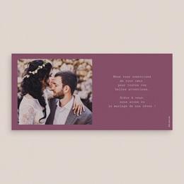 Carte de remerciement mariage Vendanges d'amour - Panoramique simple pas cher