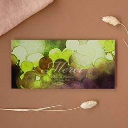 Carte de remerciement mariage Vendanges d'amour - Panoramique simple