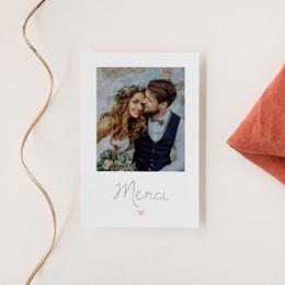 Carte de remerciement mariage Sweet Wedding - Rectangle simple vertical