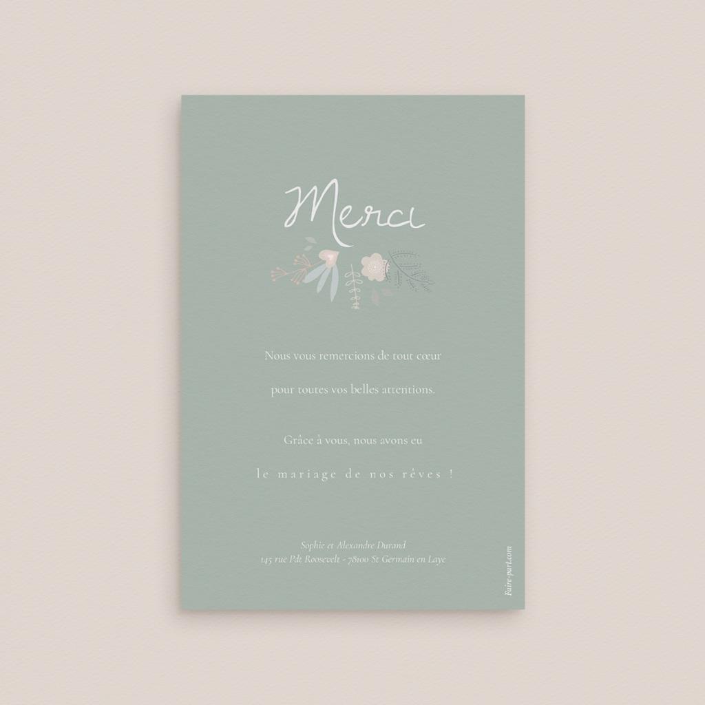 Carte de remerciement mariage Sweet Wedding - Rectangle simple vertical pas cher