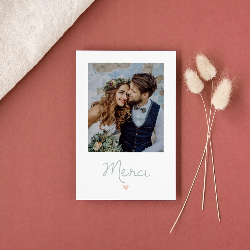 Carte de remerciement mariage Sweet Wedding - Rectangle simple vertical gratuit