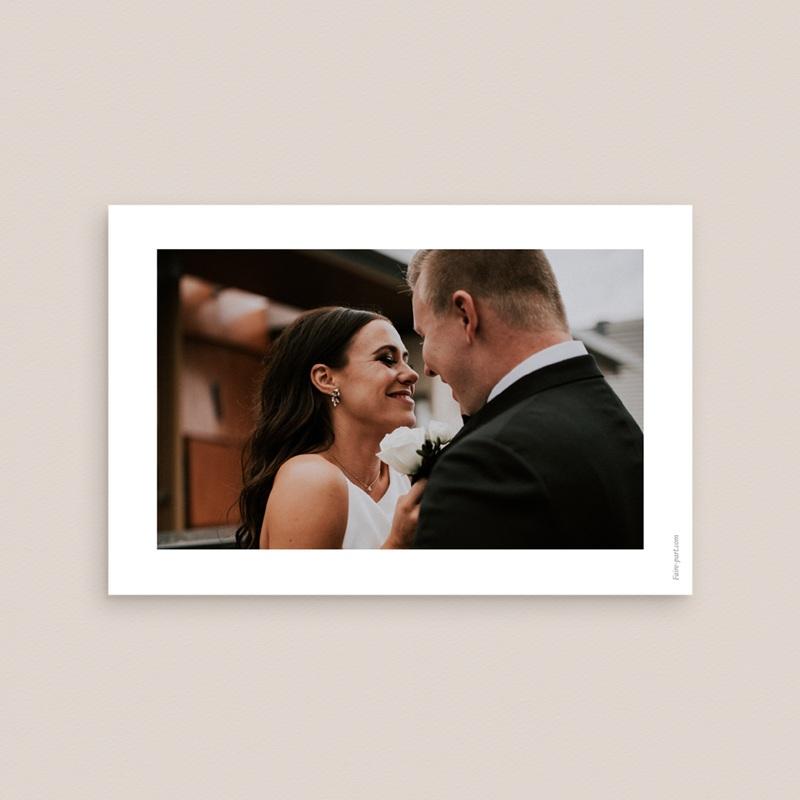 Carte de remerciement mariage Zen - Rectangle simple pas cher