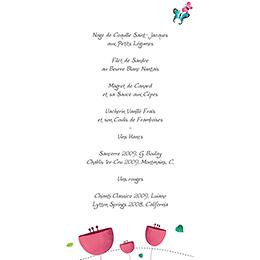 Menu mariage Bucolique  gratuit