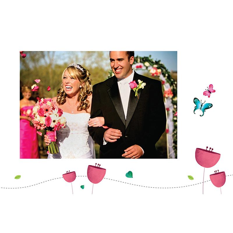 Carte de remerciement mariage Bucolique  gratuit