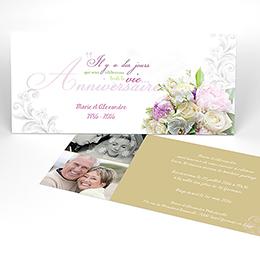 Carte anniversaire de mariage Eternité