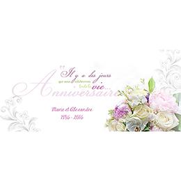 Carte anniversaire de mariage Eternité  pas cher