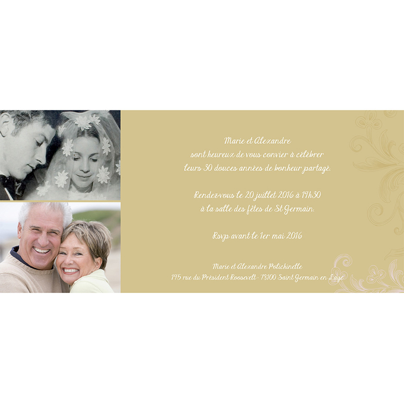 Carte anniversaire de mariage Eternité  gratuit