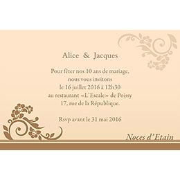 Carte anniversaire de mariage Cérémonie doré pas cher