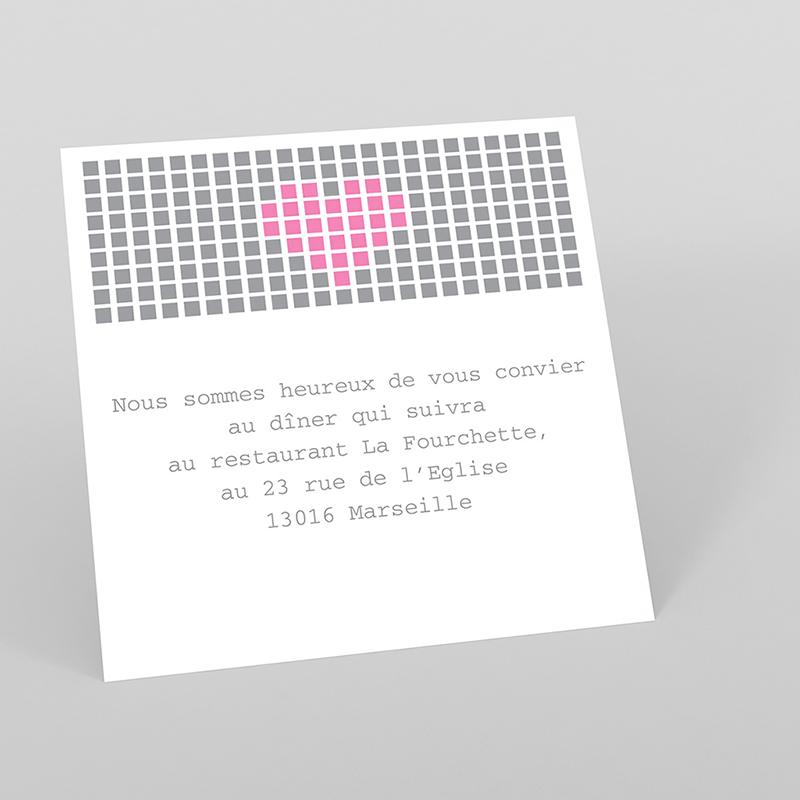 Carte d'invitation mariage Love.com