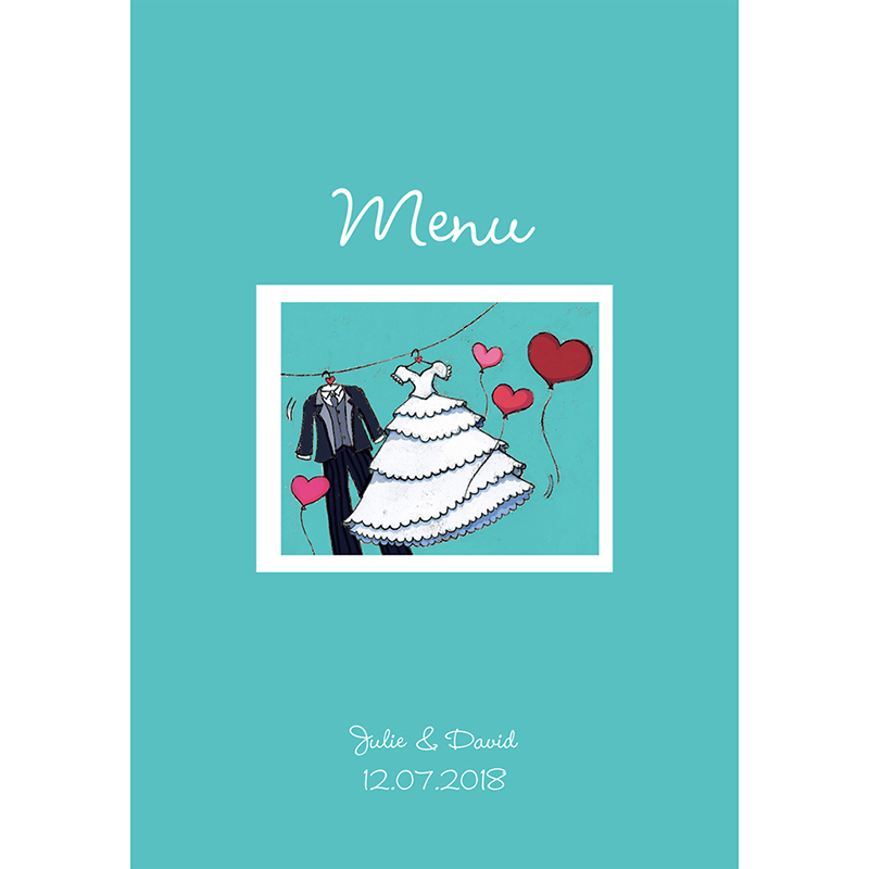 Menu mariage Union bleu pas cher