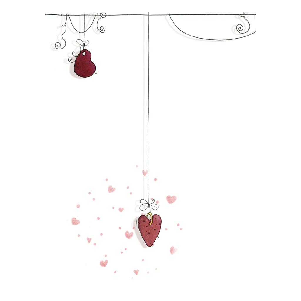 Menu mariage Les Coeurs coeur