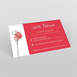 Carton réponse mariage Coquelicots