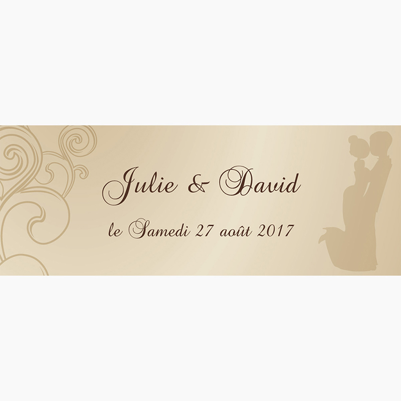 Marque-place mariage Youpi 1 fille pas cher