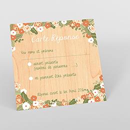 Carton réponse mariage Authentique
