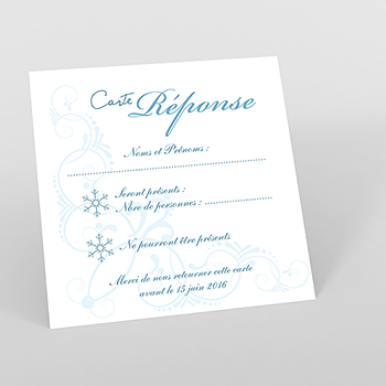 Carton réponse mariage Mariage en hiver