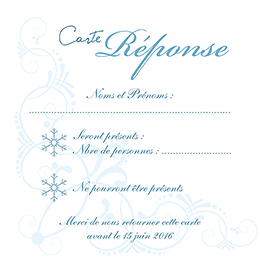 Carton réponse mariage Mariage en hiver  pas cher
