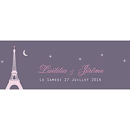 Marque-place mariage Paris violine pas cher