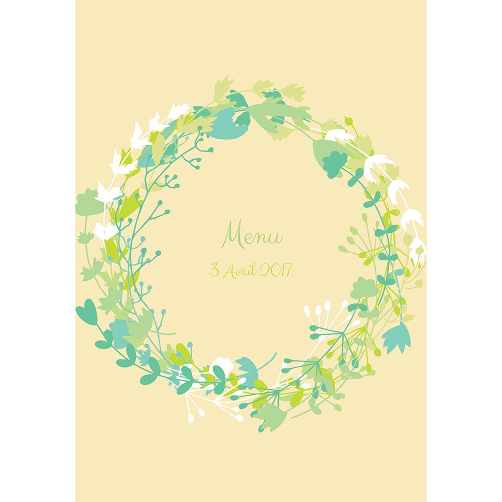 Menu mariage Tourbillon de printemps pas cher