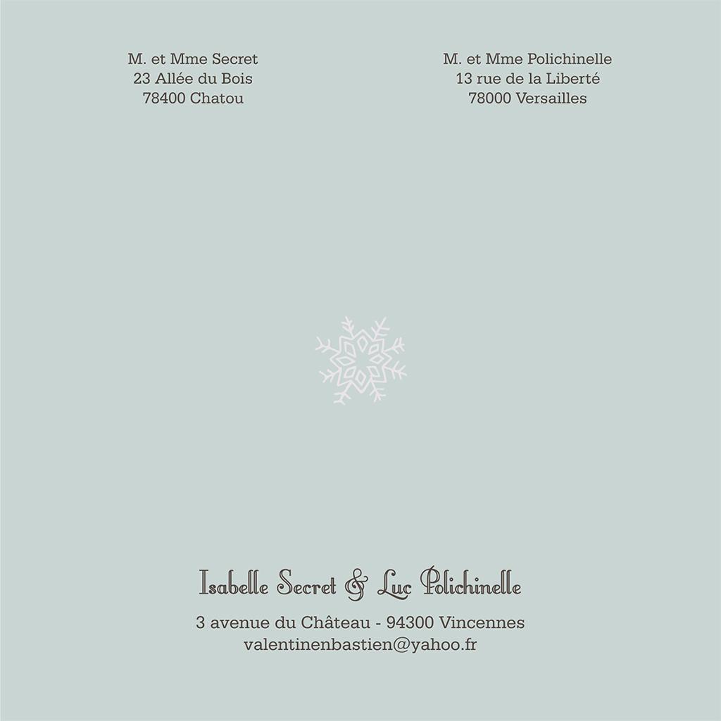 Faire-part de mariage Souffle d'hiver  gratuit