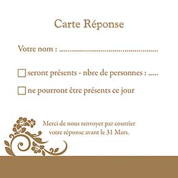 Carton réponse mariage Cérémonie doré pas cher