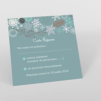 Carton réponse mariage Souffle d'hiver